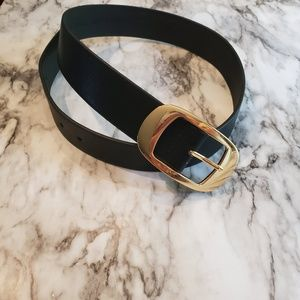 The limited black belt with gold buckle small